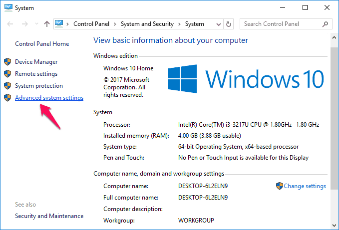 windows 10 pagefile