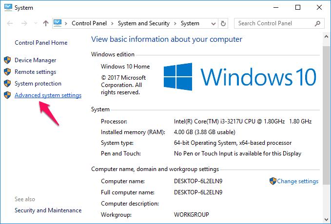 windows 10 pagefile