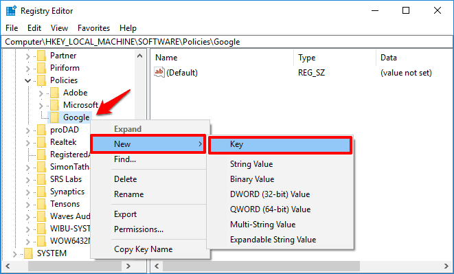 how to disable incognito mode in chrome windows 10