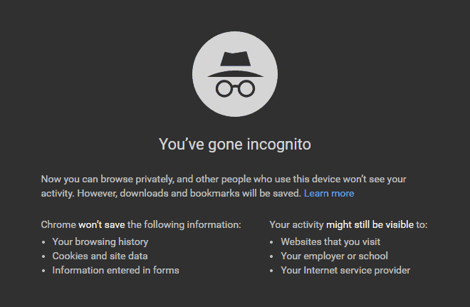 how to disable incognito mode in chrome