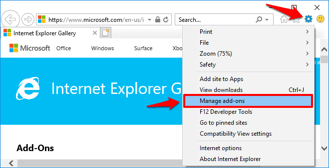 internet explorer change default search engine