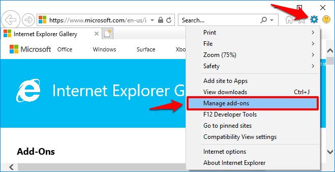 internet explorer change default search engine