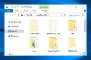 show hidden files windows 10