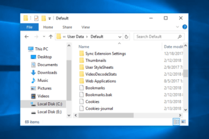 where are chrome bookmarks stored windows 10