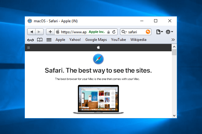 download safari for windows 10