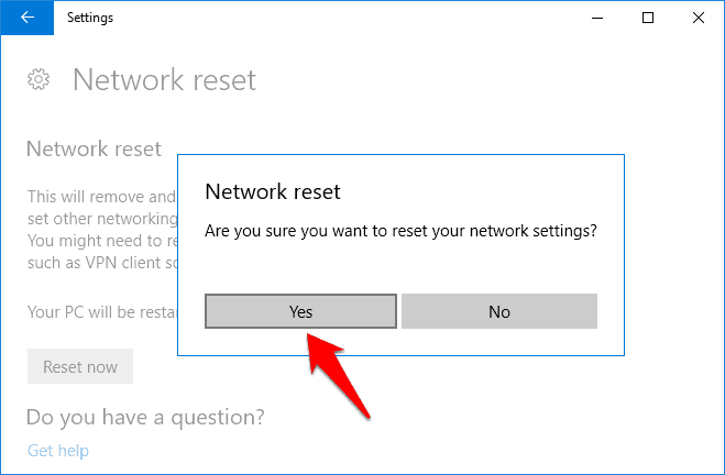 reinstall network devices
