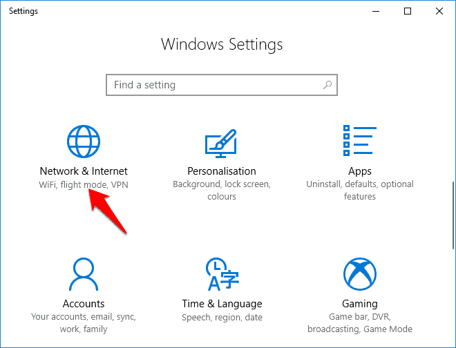 windows 10 network reset