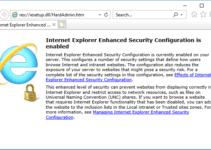 disable internet explorer enhanced security configuration