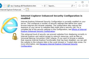 disable internet explorer enhanced security configuration