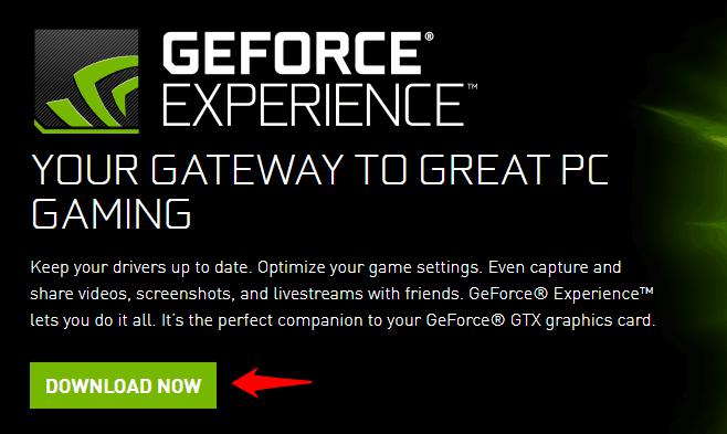 geforce experience won't open