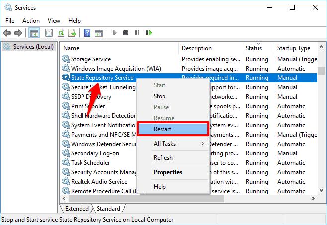 How to Fix State Repository Service High CPU Usage in Windows 10