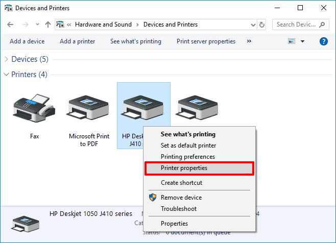 how to find IP address of printer