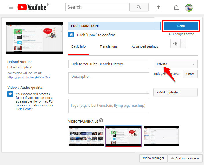 how to remove audio from youtube video