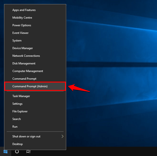 command prompt Windows 10
