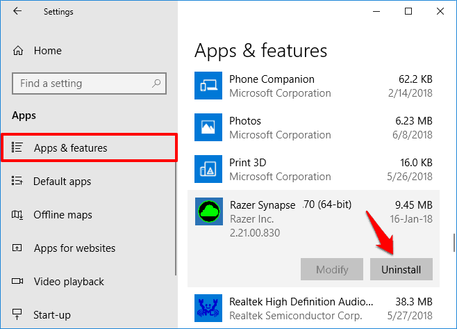How to Fix Razer Synapse Not Opening on Windows 10 / 8 / 7