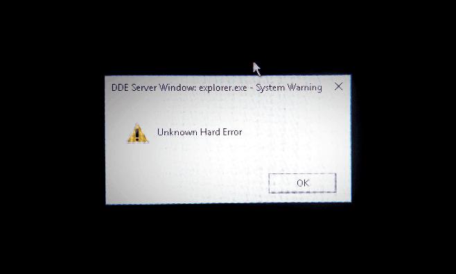 unknown hard error