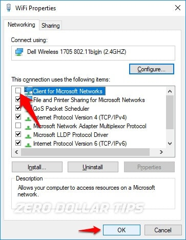 network error windows cannot access
