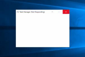 task manager not responding
