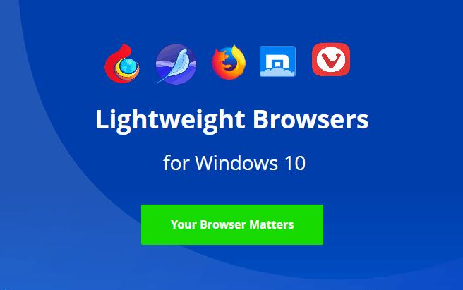 lightweight browser windows 10
