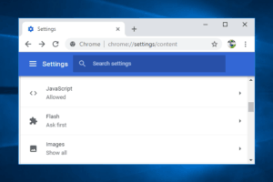 enabling flash on chrome