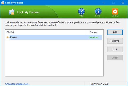 encrypt folder windows 10