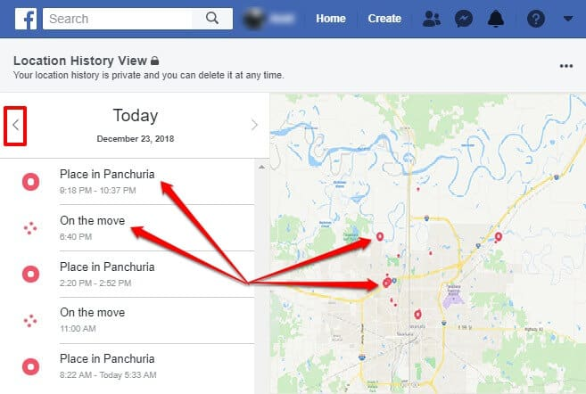 facebook location history view