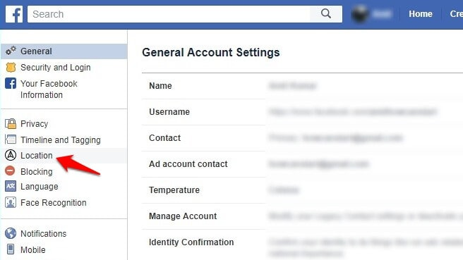 how to view your location history on facebook