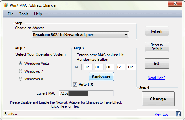 mac address changer software