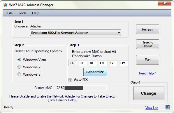 mac address changer software