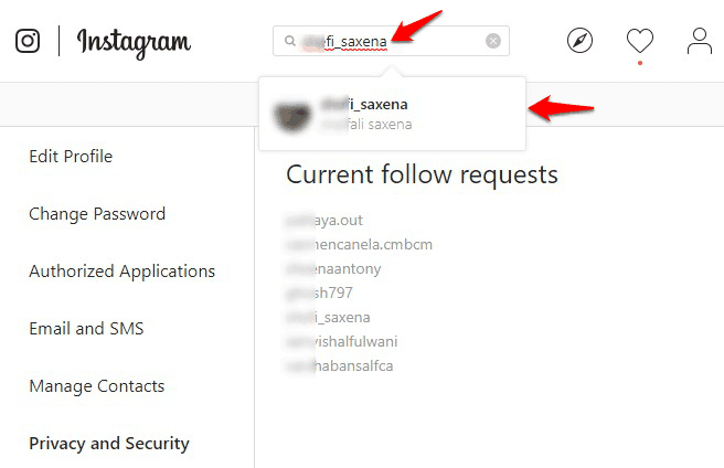 how to cancel a follow request on instagram