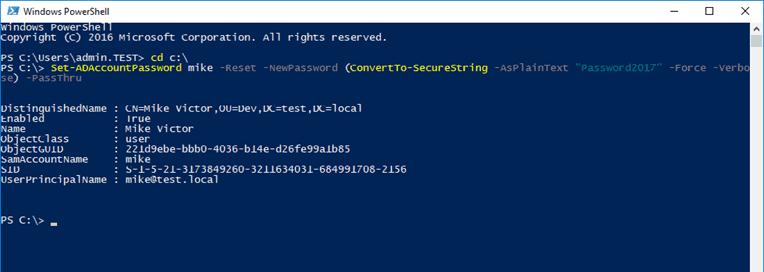 reset password in windows 10