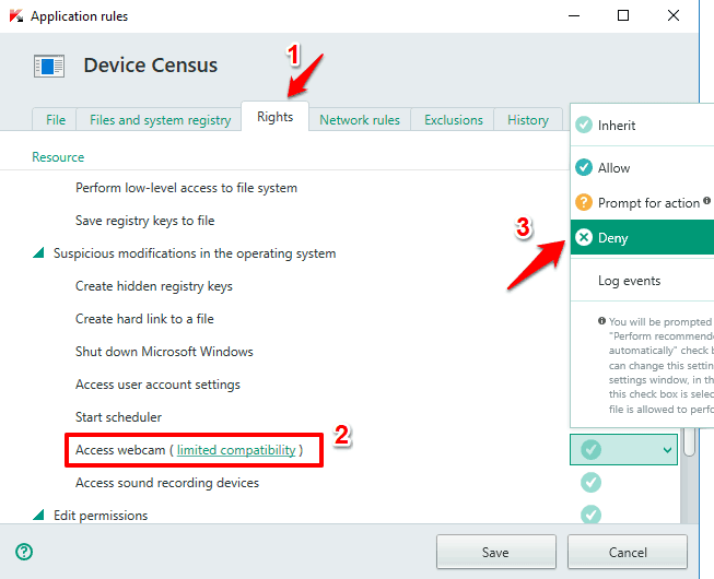 device census asking for webcam access