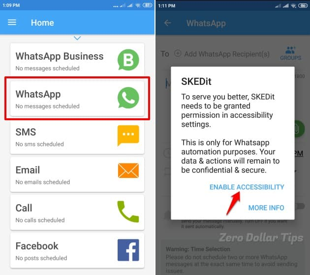 whatsapp message scheduler