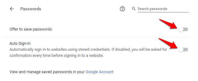 delete all saved passwords chrome
