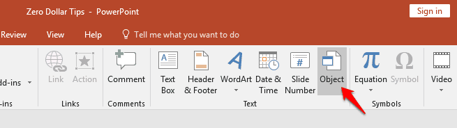 adding pdf into powerpoint presentation