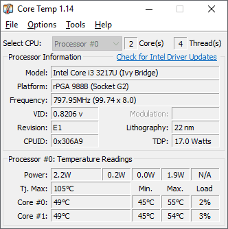 check cpu temp