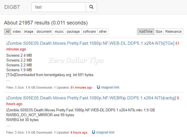 digbt search engine
