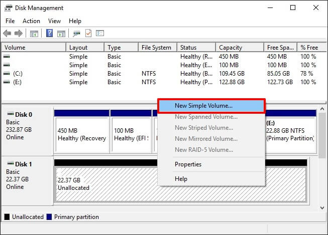 external hard drive not showing up in disk management