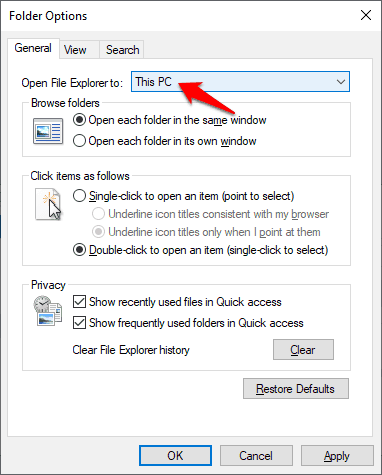 how to disable quick access