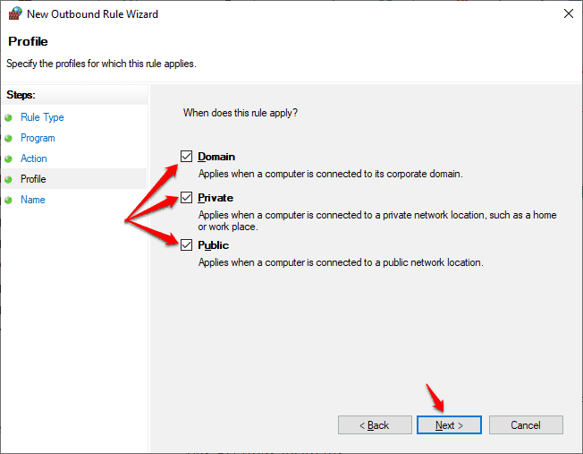 how to block a program from accessing the internet in windows 10