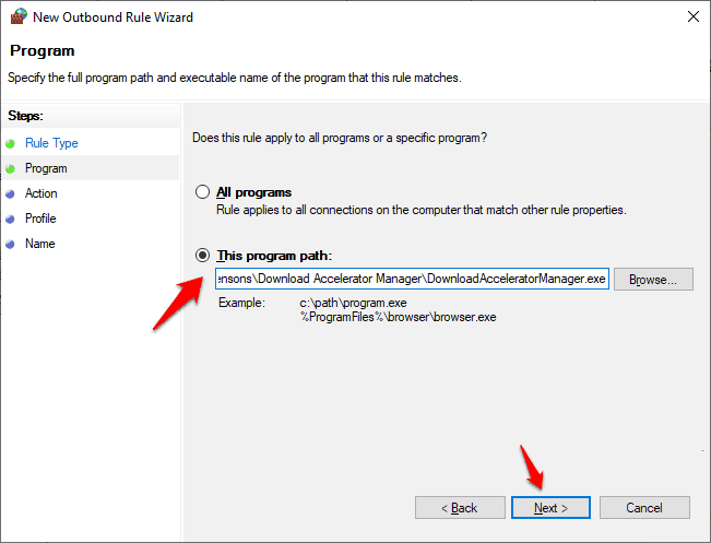 how to disable a program from accessing the internet