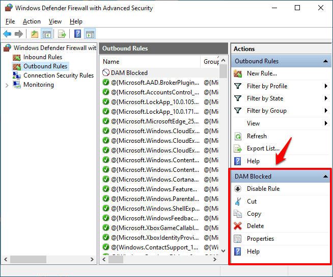 how to use windows firewall to block a program from accessing the internet