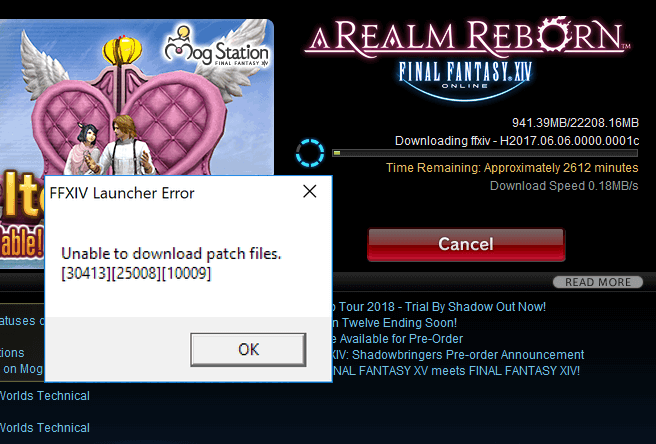 How to Fix FFXIV Unable to Download Patch Files in Windows 10
