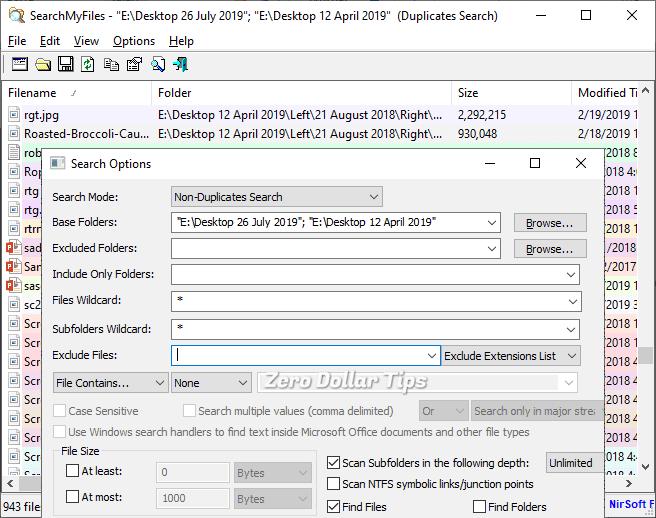find duplicate files