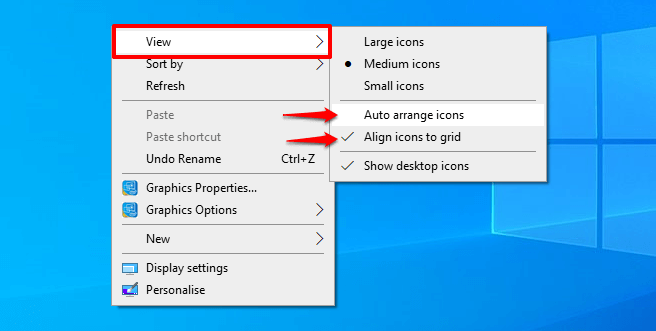 how to move desktop icons to right side of screen