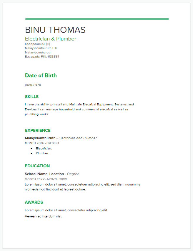 best google docs resume templates
