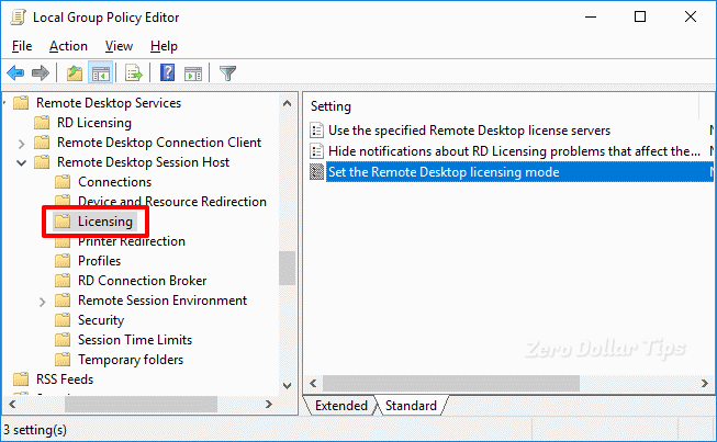 change remote desktop licensing mode