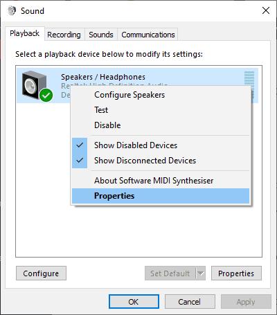 Windows equalizer