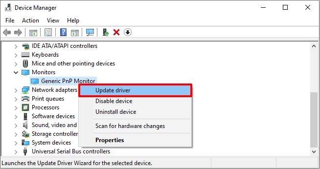 generic pnp monitor driver