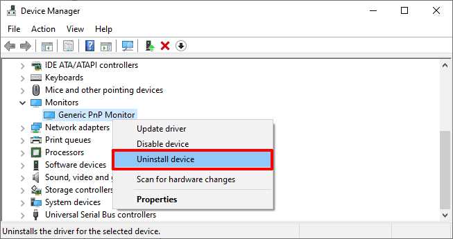 How to Fix Generic PnP Monitor Problem in Windows 10